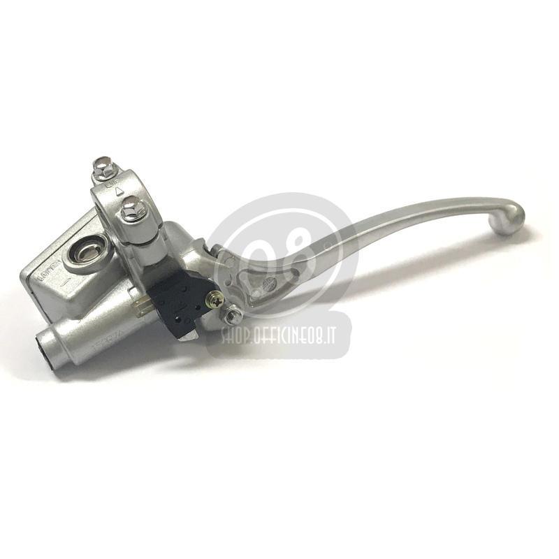 Pompa freno anteriore Honda Replica 14mm serbatoio integrato angolato grigio - Foto 4