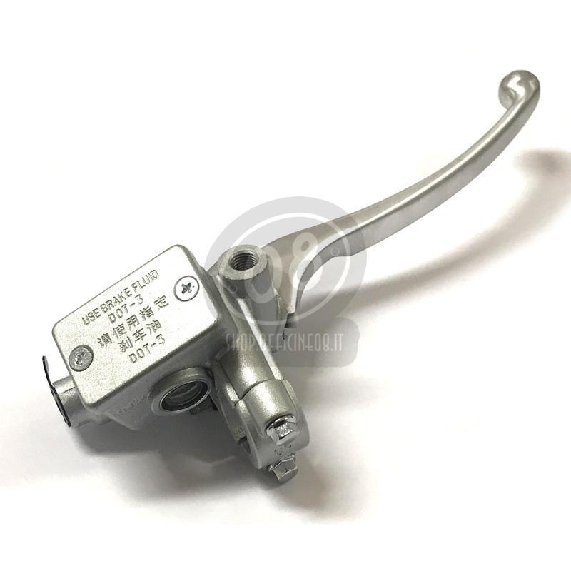 Pompa freno anteriore Honda Replica 14mm serbatoio integrato angolato grigio - Foto 2