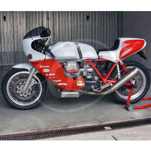 Fuel tank Moto Guzzi Serie Grossa long fiberglass - Pictures 5