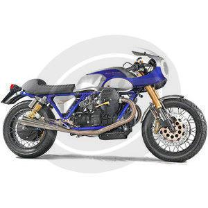Fuel tank Moto Guzzi Serie Grossa long fiberglass - Pictures 3