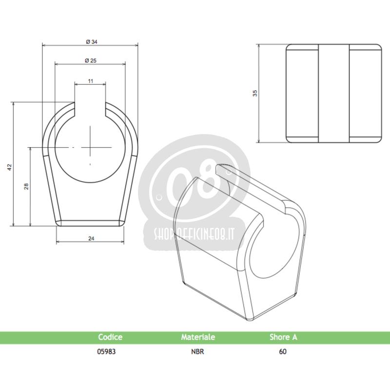 Tampone serbatoio per Ducati 350 Pantah laterale posteriore - Foto 2