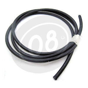 Ignition lead cable 7mm cotton braided black