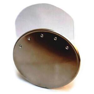 Tabella portanumero ovale piana con plexiglass