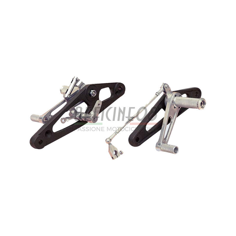 Coppia pedane arretrate per Honda CB 900 F  alluminio fissi