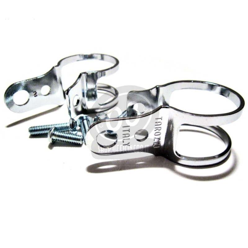 Winker holder clips Tarozzi 31-34mm pair chrome - Pictures 3