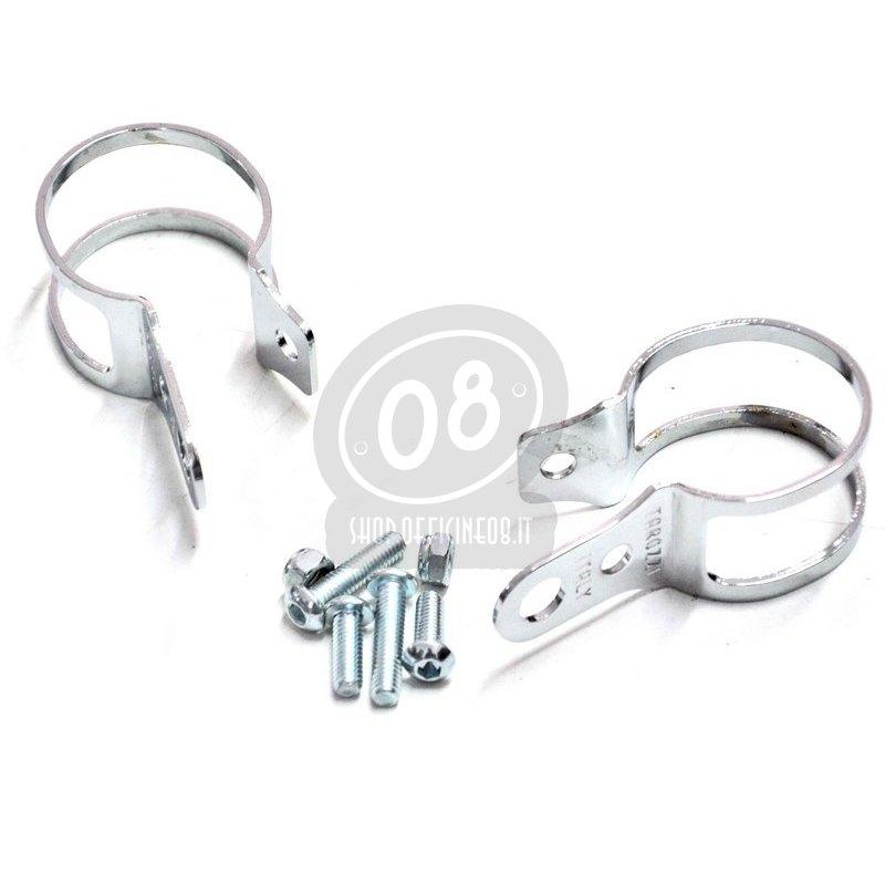 Winker holder clips Tarozzi 31-34mm pair chrome - Pictures 2