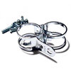 Winker holder clips Tarozzi 31-34mm pair chrome - Pictures 1