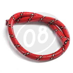 Cavo candela 7mm sterlingato rosso/nero/bianco rivestito - Foto 2