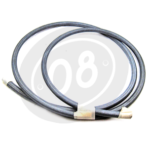 Ignition lead cable 7mm cotton braided grey