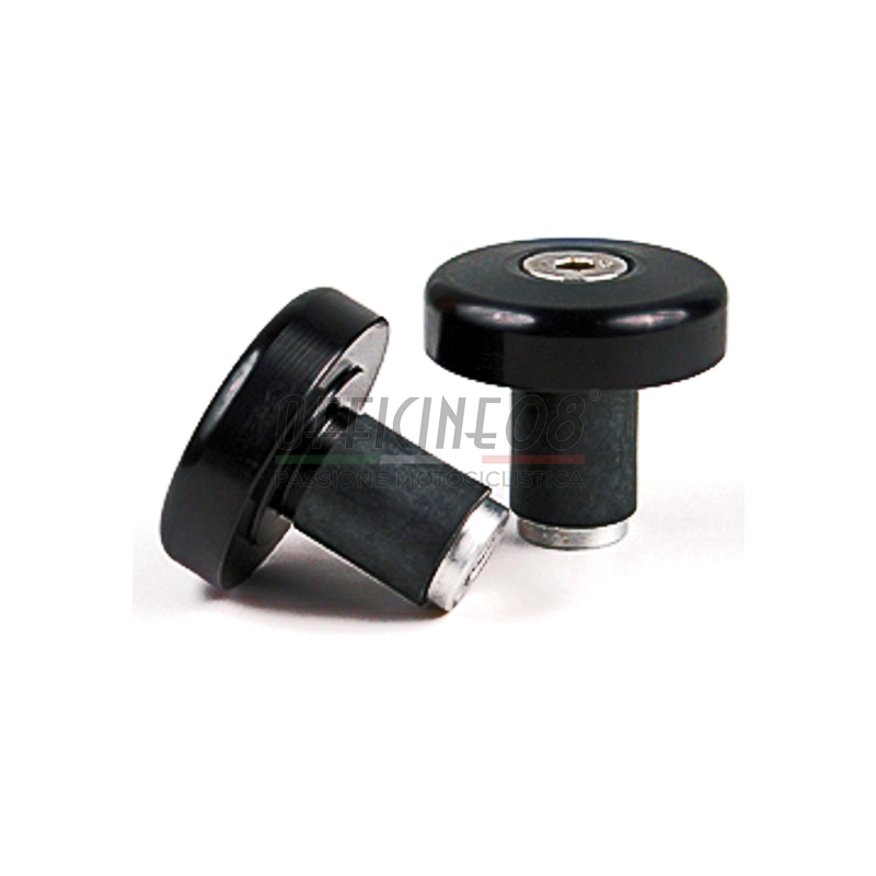 Bar-end weights LSL cylindric flat 14mm black alloy