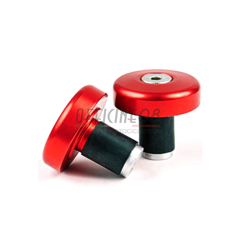 Coppia contrappesi antivibranti LSL cilindrici piatti 14mm rosso