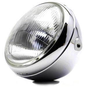 Halogen headlight 7'' British chrome