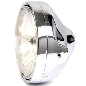 Halogen headlight 7'' Lucas clear lens chrome