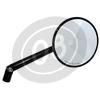Specchietto retrovisore reversibile Highsider Round regolabile nero