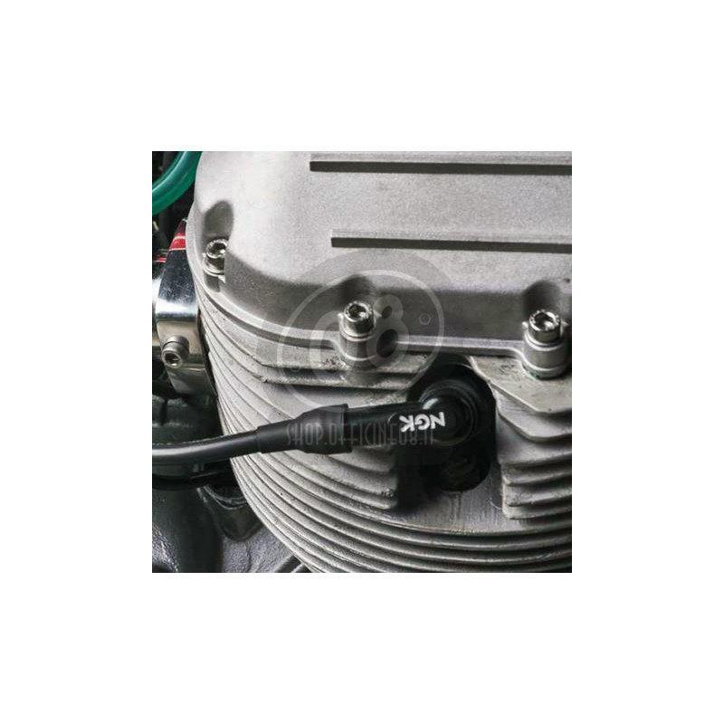 Cappuccio candela NGK LB05F 90° 14mm nero - Foto 2