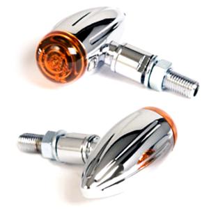 Coppia frecce alogene Bullet Groove micro cromo