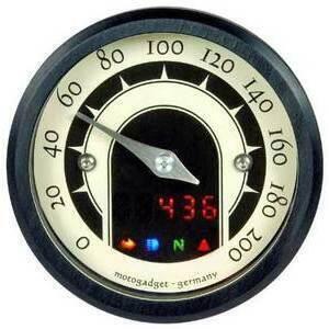 Contachilometri elettronico Motogadget Motoscope Tiny Speedster nero