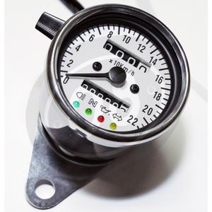 Contachilometri meccanico Classic K=1 con spie corpo cromo fondo bianco - Foto 5