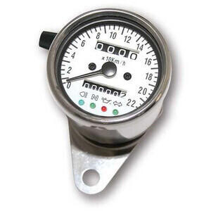 Mechanical speedometer Classic K=1 control lights body chrome dial white