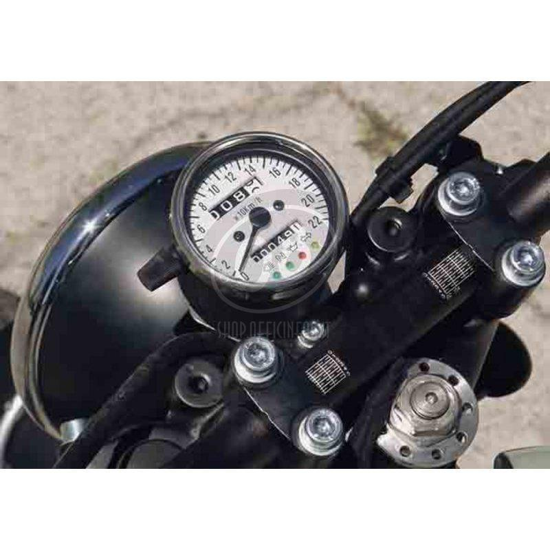 Mechanical speedometer Classic K=1.4 control lights body chrome dial white - Pictures 4