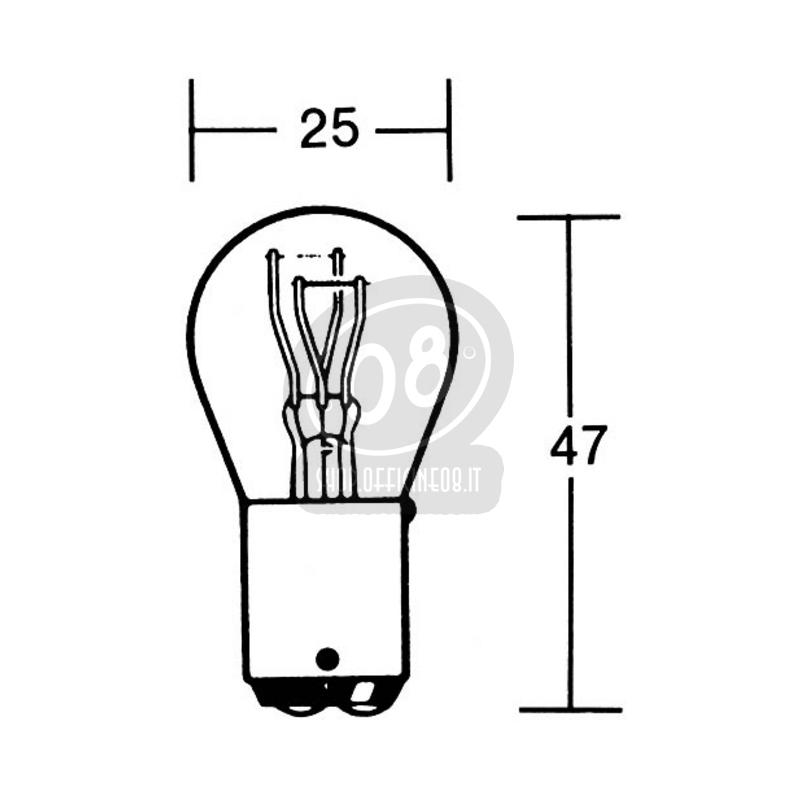 Halogen bulb 12V BAY15D-21/5W - Pictures 2