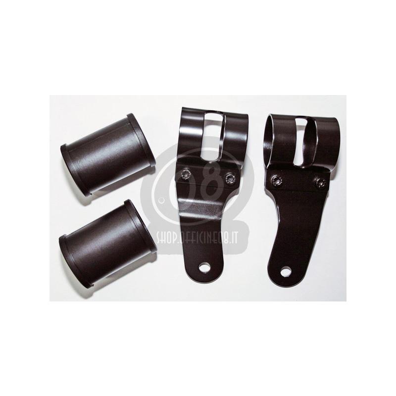 Coppia portafaro Tommaselli Replica 38-42mm nero - Foto 2