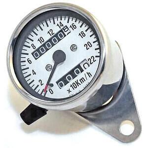 Mechanical speedometer Classic K=1.4 body chrome dial white