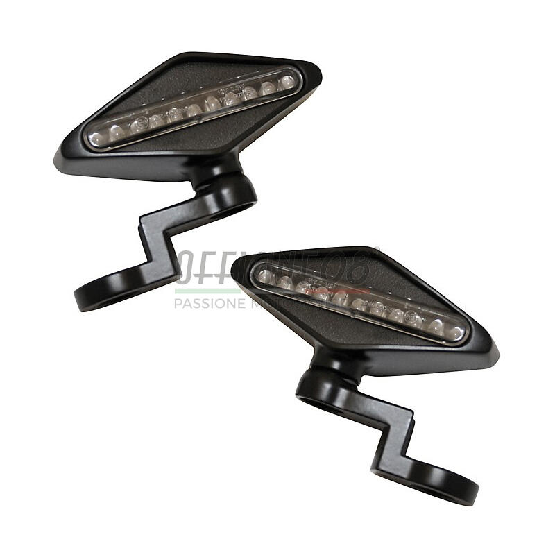 Coppia frecce led Highsider Mirror nero opaco