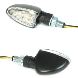 Led winkers Sport black matt pair