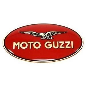 Adesivo Moto Guzzi 83x45mm resinato sinistro