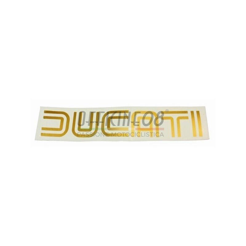 Adesivo Ducati '70 oro