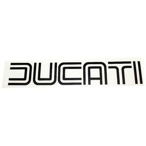 Adesivo Ducati '70 nero