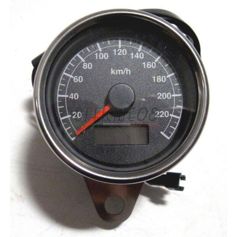 Mechanical speedometer Modern Classic K=1.4 body chrome dial black