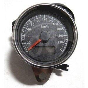 Contachilometri meccanico Modern Classic K=1.4 corpo cromo fondo nero