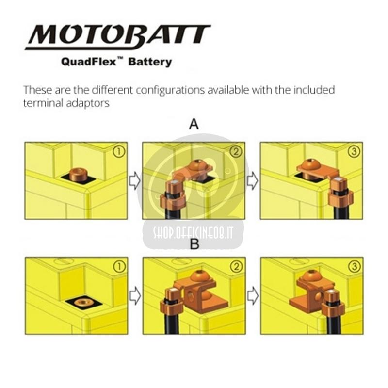 Batteria per Moto Guzzi 850 Le Mans sigillata MotoBatt 12V-32Ah - Foto 2