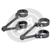 Headlight brackets 50mm LSL Cafe Racer long pair