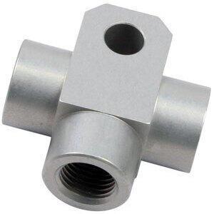 Raccordo tubi freno aeronautici femmina 3 vie M10x1 alluminio grigio