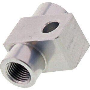 Banjo bolt connector 2 ways straight M10x1 alloy grey