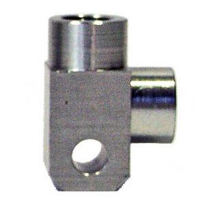 Banjo bolt connector 2 ways 90° M10x1 alloy grey