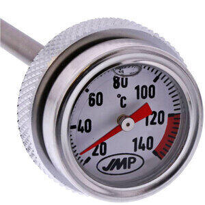 Termometro olio M26x1.5 lunghezza 285mm fondo bianco