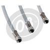 Aeronautical brake hose 15cm grey
