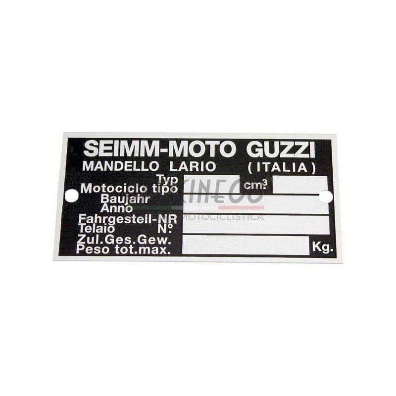 Targa Moto Guzzi telaio