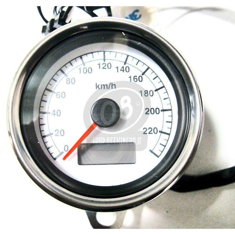 Mechanical speedometer Modern Classic K=1.4 body chrome dial white - Pictures 2