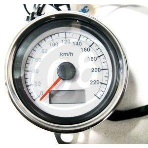 Contachilometri meccanico Modern Classic K=1.4 corpo cromo fondo bianco - Foto 2