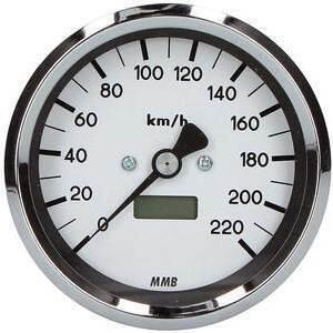 Electronic speedometer MMB Classic body chrome dial white