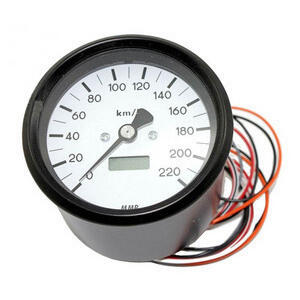 Electronic speedometer MMB Classic body black dial white