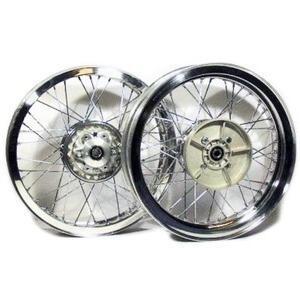 Kit ruote a raggi completo per Ducati 500 Pantah 18''x2.15 - 18''x2.15 CNC