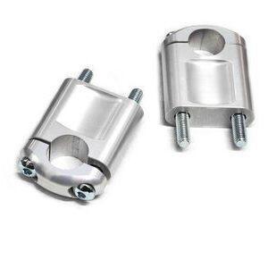 Coppia riser ABM 20mm manubrio 22mm grigio