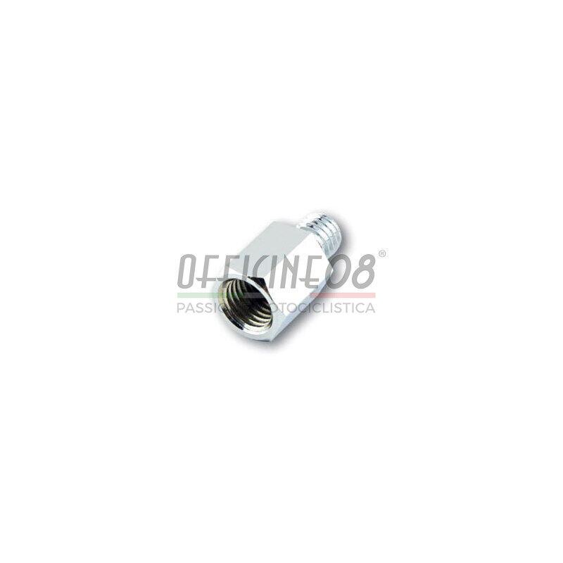 Adattatore maschio destro M10 - femmina destro M10  cromo