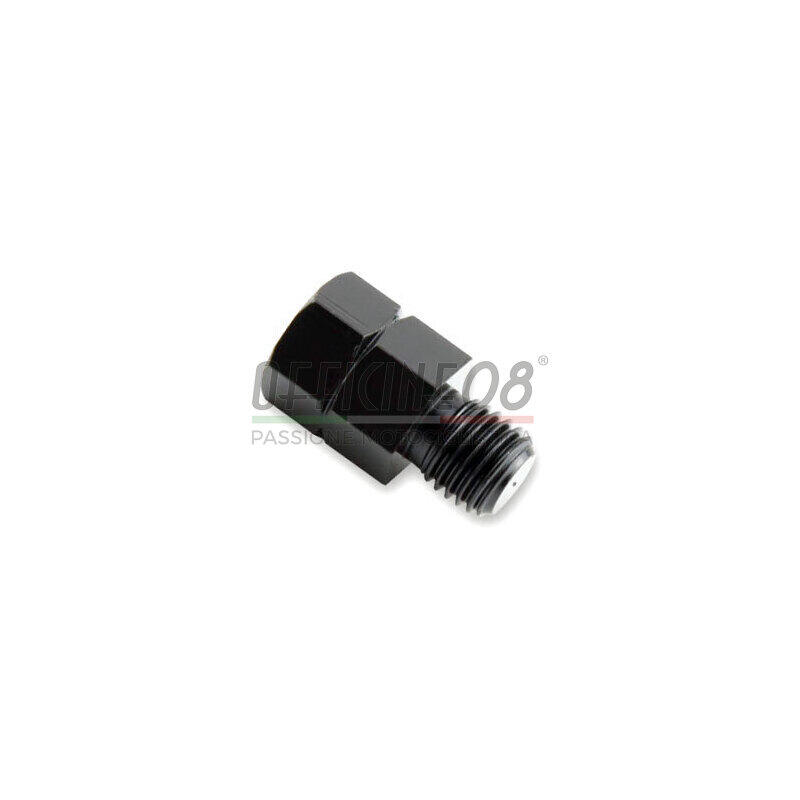 Rearview mirror adapter bolt left M8-hole right M10  black